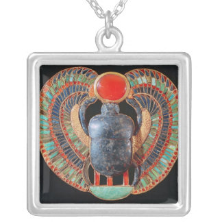 Scarab pectoral, from the tomb of Tutankhamun Silver Plated Necklace