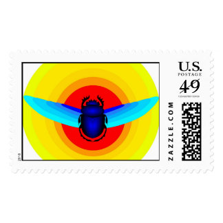 Scarab Postage Stamp
