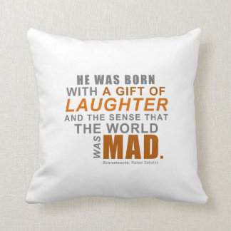 Scaramouche - A First Line Quote Throw Pillow