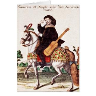Scaramouche on Horseback Greeting Cards
