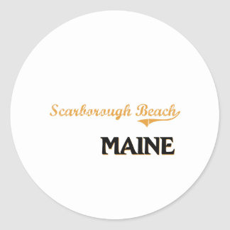 Scarborough Beach Maine Classic Round Stickers