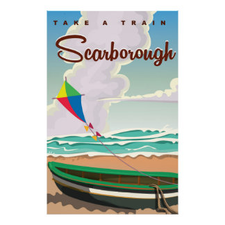 Scarborough beach travel poster