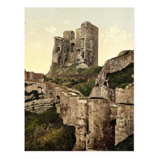 Scarborough, el castillo, Yorkshire, Inglaterra P  Tarjetas Postales