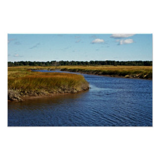 Scarborough Marsh (saltwater) Maine Poster