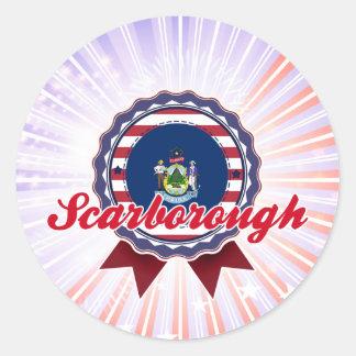Scarborough, ME Round Stickers