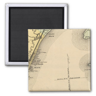 Scarborough, Old Orchard, Saco, Biddeford 2 Inch Square Magnet