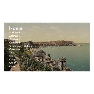 Scarborough, South Bay, Yorkshire, England rare Ph Business Card