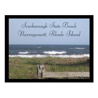 Scarborough State Beach, Rhode Island Postcard