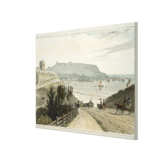 Scarborough, Yorkshire, from Volume VI of 'A Voyag Canvas Print