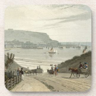 Scarborough, Yorkshire, from Volume VI of 'A Voyag Drink Coaster