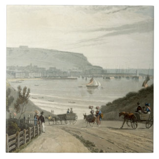 Scarborough, Yorkshire, from Volume VI of 'A Voyag Tile