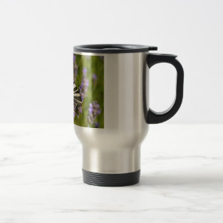Scarce Swallowtail butterfly on lavender Travel Mug