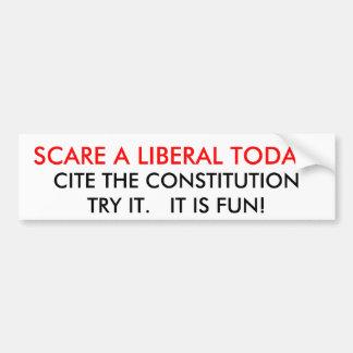 SCARE A LIBERAL TODAY!, CITE THE CONSTITUTIONTR... CAR BUMPER STICKER