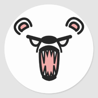 scare bear classic round sticker