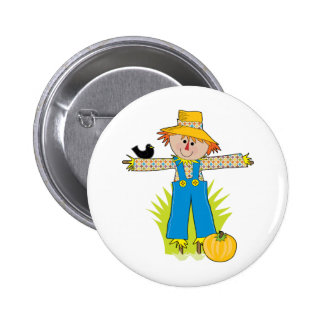 Scare Crow 2 Inch Round Button