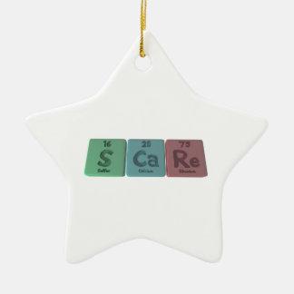 Scare-S-Ca-Re-Sulfur-Calcium-Rhenium.png Ceramic Ornament