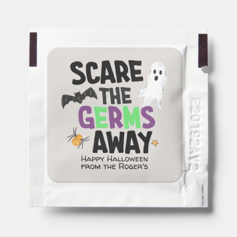 Scare the Germs Away Hand Sanitizer Packet
