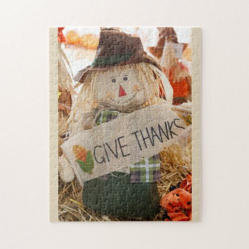 Thanksgiving Scarecrow Jigsaw Puzzle - 110 Pieces