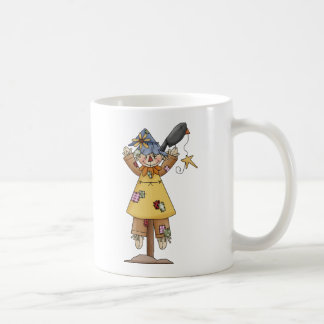 Scarecrow 2 Autumn Crow Coffee Mug