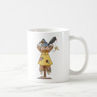 Scarecrow 2 Autumn Crow Classic White Coffee Mug