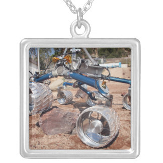 Scarecrow, a mobility-testing model silver plated necklace