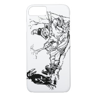 Scarecrow and Crow Hanging Out in a Tree iPhone 8/7 Case