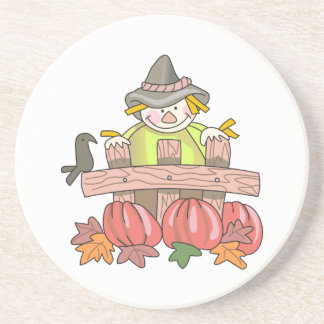 SCARECROW AND PUMPKINS COASTERS