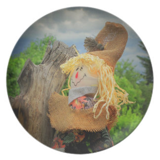 Scarecrow and Storm by djoneill Dinner Plate