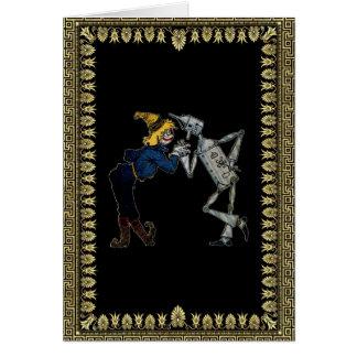 Scarecrow and Tin Man Card
