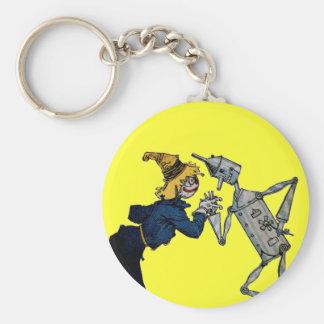 Scarecrow and Tin Man Key Chain