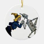 Scarecrow and Tin Man Ornament