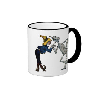 Scarecrow and Tin Man Ringer Coffee Mug
