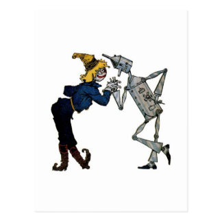 Scarecrow and Tinman Postcard