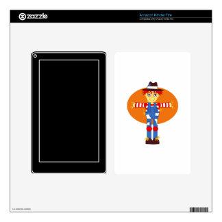 scarecrow cartoon orange behind kindle fire decal