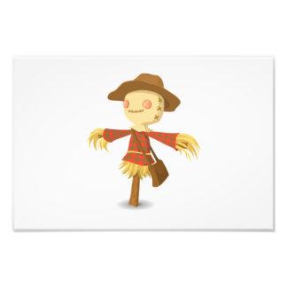 Scarecrow cartoon photo print
