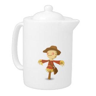 Scarecrow cartoon teapot