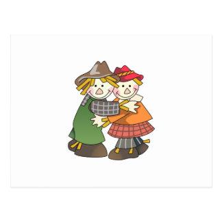 Scarecrow Couple Postcard