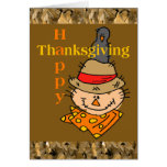 Scarecrow & Crow Thanksgiving Greeting Card