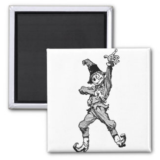 Scarecrow Dancing Disco Style 2 Inch Square Magnet