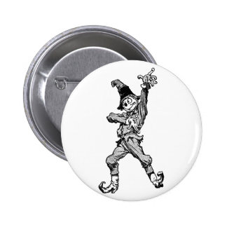 Scarecrow Dancing Disco Style 2 Inch Round Button
