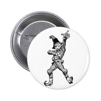 Scarecrow Dancing Disco Style Pinback Button