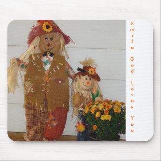 Scarecrow Duo&Mums, SmileGodLovesYou Mouse Pads