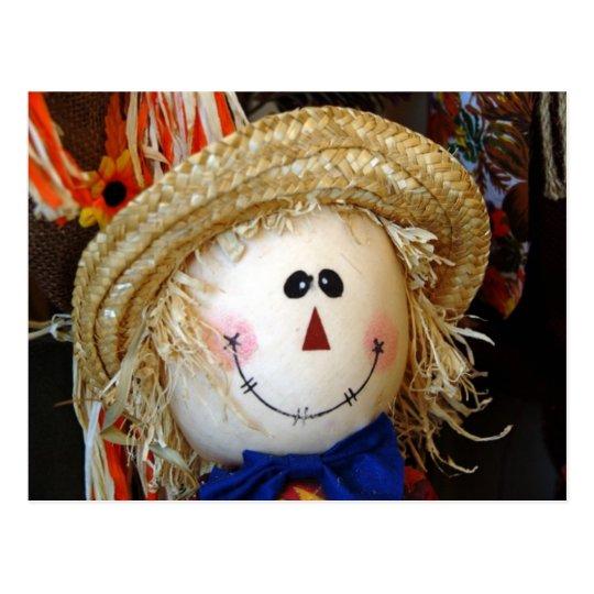 Scarecrow Face Postcard