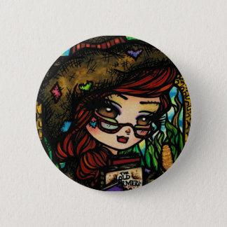 Scarecrow Fairytale Girl Fairy Fantasy Button