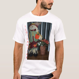 Scarecrow&Flowers,  I LOVE AUTUMN T-Shirt