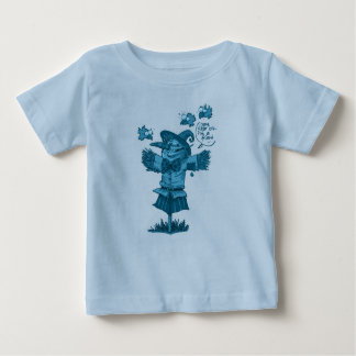 scarecrow gives friendship message funny cartoon baby T-Shirt