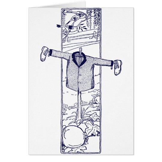 Scarecrow in the Garden Card