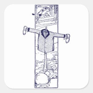 Scarecrow in the Garden Square Sticker