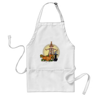 SCARECROW, JACK & CAT by SHARON SHARPE Adult Apron
