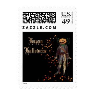 Scarecrow Jack Halloween Postage